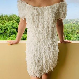 boutique dress (details like feathers)